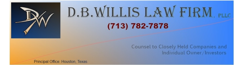 D.B. Willis Law Firm, PLLC | Houston Business Lawyer | Austin | Dallas | San Antonio